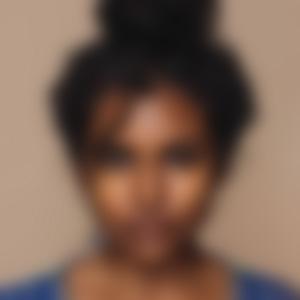 blurred woman with dark hair